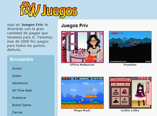 Muchos, muchos juegos para jugar online con Juegos Friv