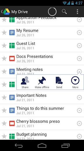 Google Drive y su aplicación para Android
